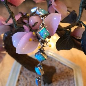 Vintage sterling fire opal bracelet